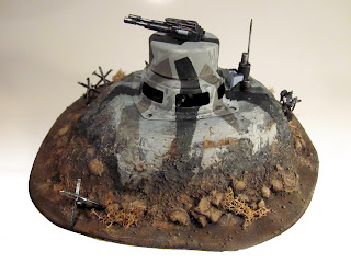 Completed Bunker for Warhammer 40k -Left Side View