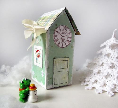 Как сделать домик из маленькой коробки сока