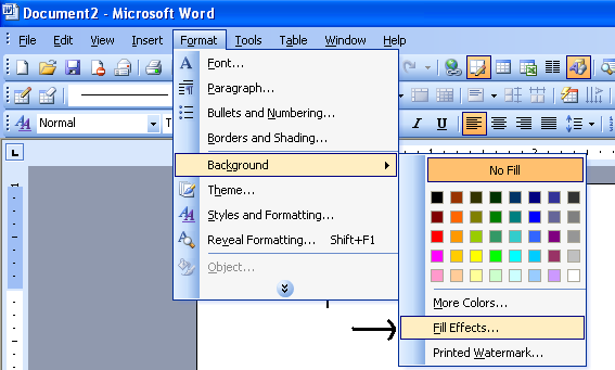 Use Patterns In BackGround Microsoft Office Support