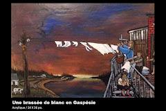 Une brassée de blanc en Gaspésie