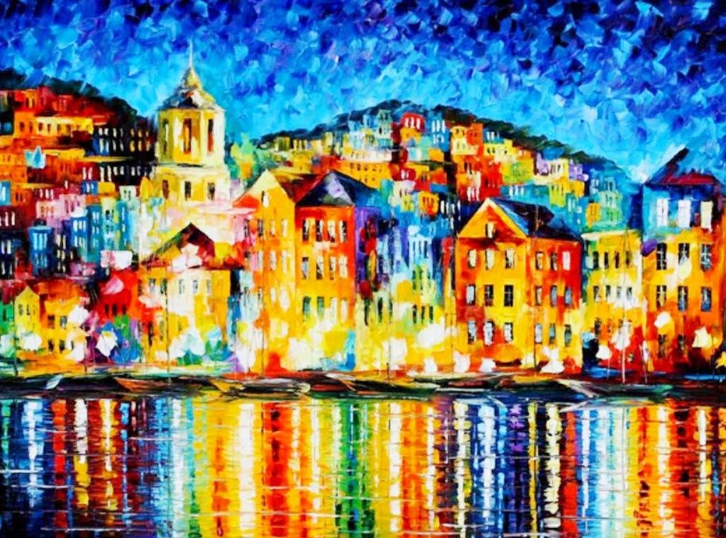 Cuadros modernos pinturas y dibujos oleos a esp tula - Cuadros pintados con spray ...