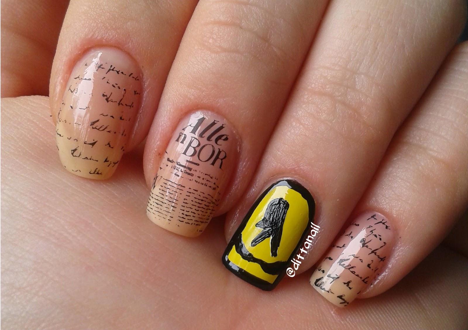 Ditta\'s nail design & art : Alphabet nail art challenge - Letter Y