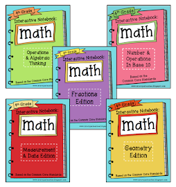Common Core Interactive Math Notebooks for Grades 3, 4, & 5!!!