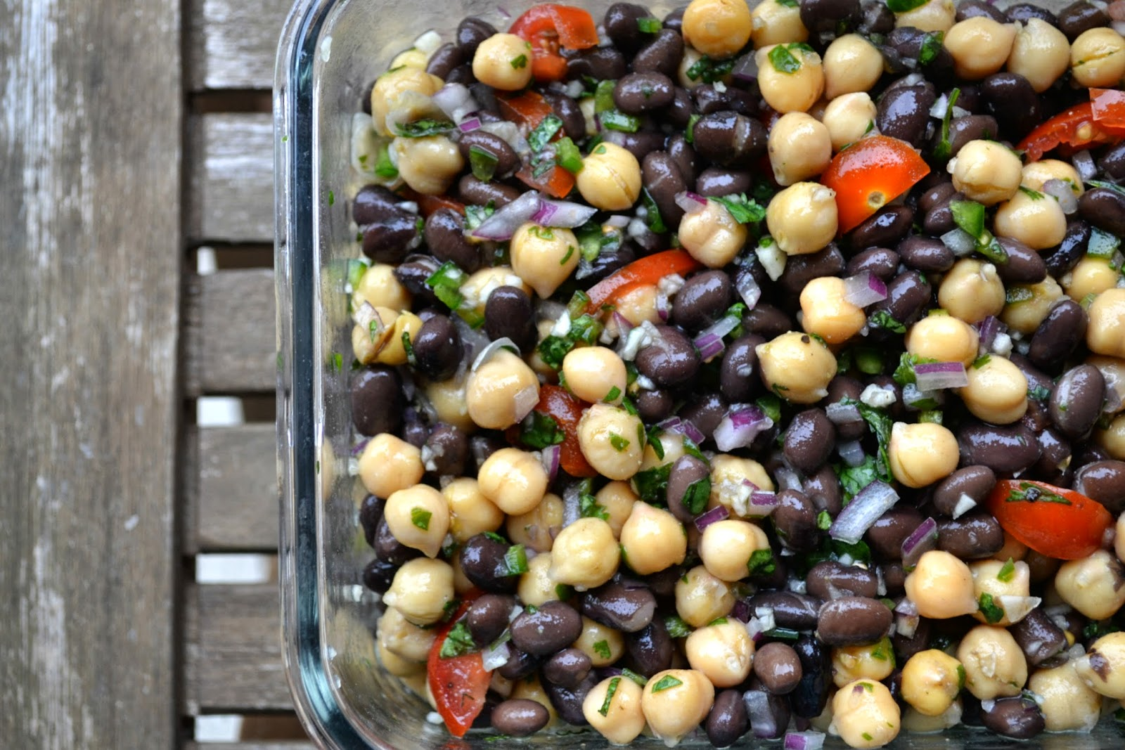 Black bean, Chickpea Salad