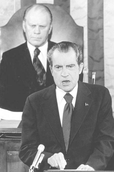 O ex-presidente dos Estados Unidos Richard Nixon (Foto: AP/Arquivo)