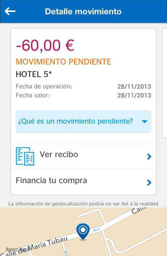 BBVA wallet sur iPhone