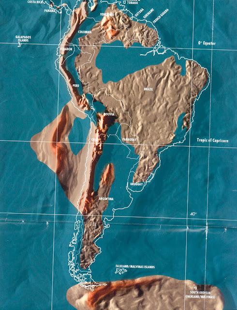 Mapa do Brasil pós tribulação e tsunami, apocalipse mapas mundo 2036