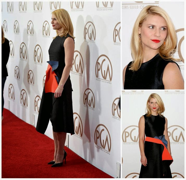 Oh no! Claire Danes just started some beautiful as she headed into the red carpet at the Hyatt Regency Century Plaza Hotel in Los Angeles on Saturday, January 24, 2015.