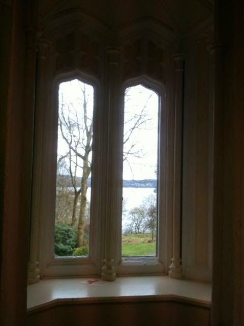 view through Wray Castle window