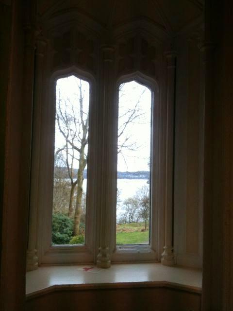 view through Wray Castle window