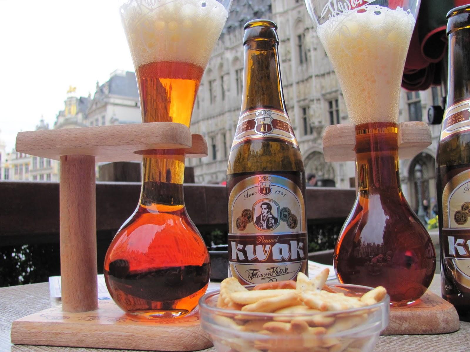 Kwak Beers and Glasses in Brussels, Belgium
