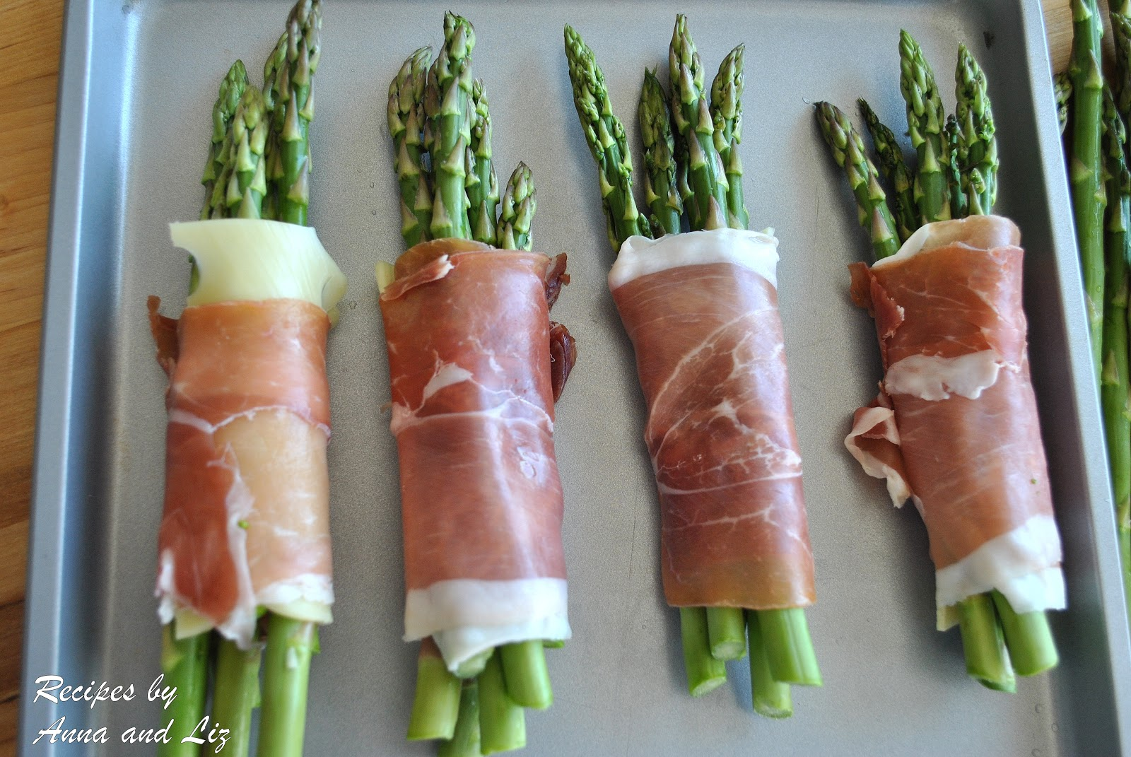 ... ... by Anna and Liz: Roasted Asparagus with Prosciutto and Cheese