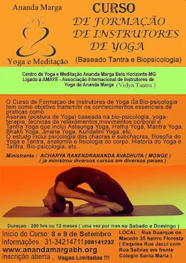 Curso de Formação de Instrutores de Yoga  (Hatha e Yoga da Biopsicologia)