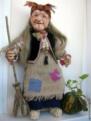 Баба яга из чулок мастер класс