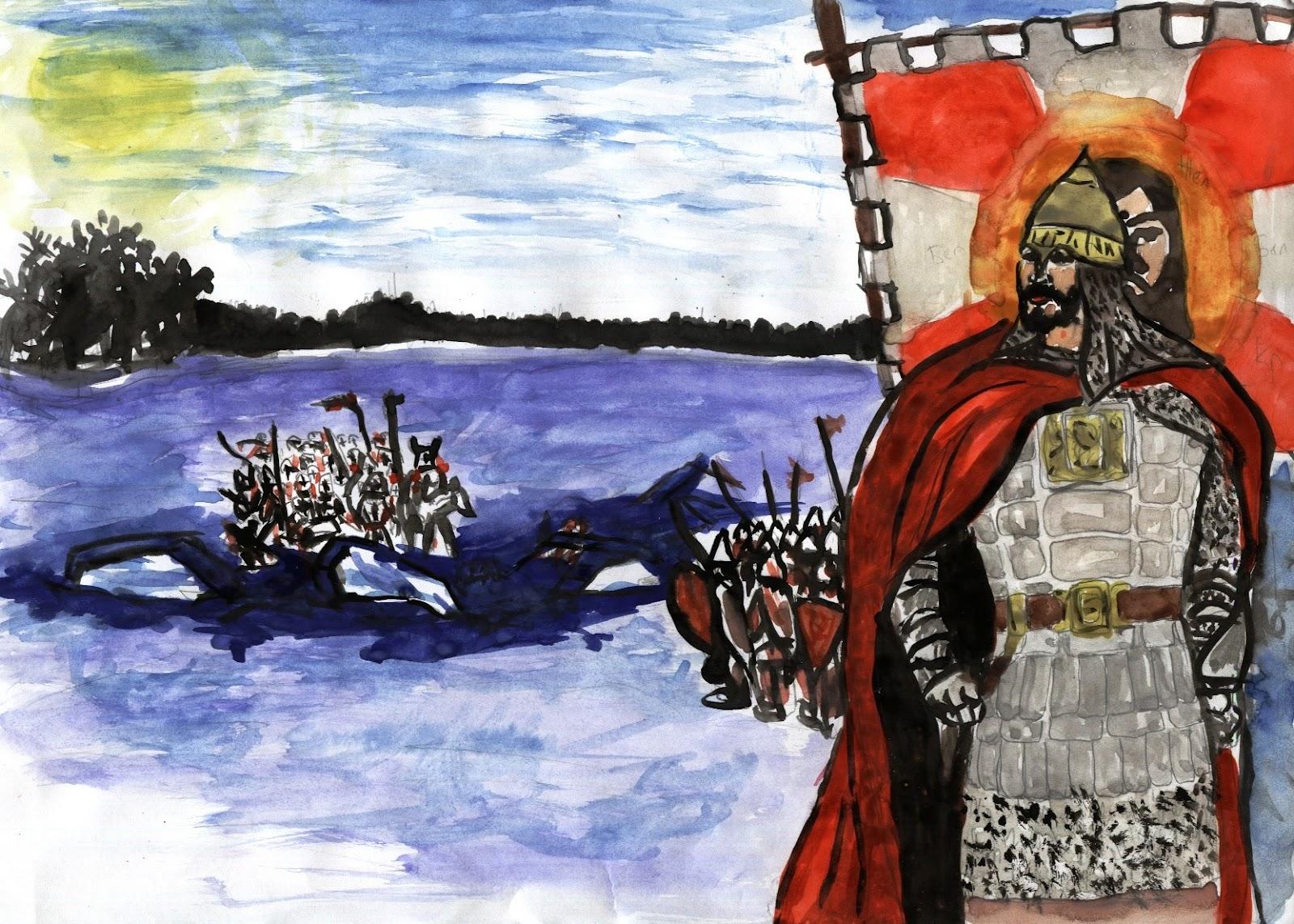 770 лет назад 5 апреля 1242 года князь александр невский на чудском озере у вороньего камня победил