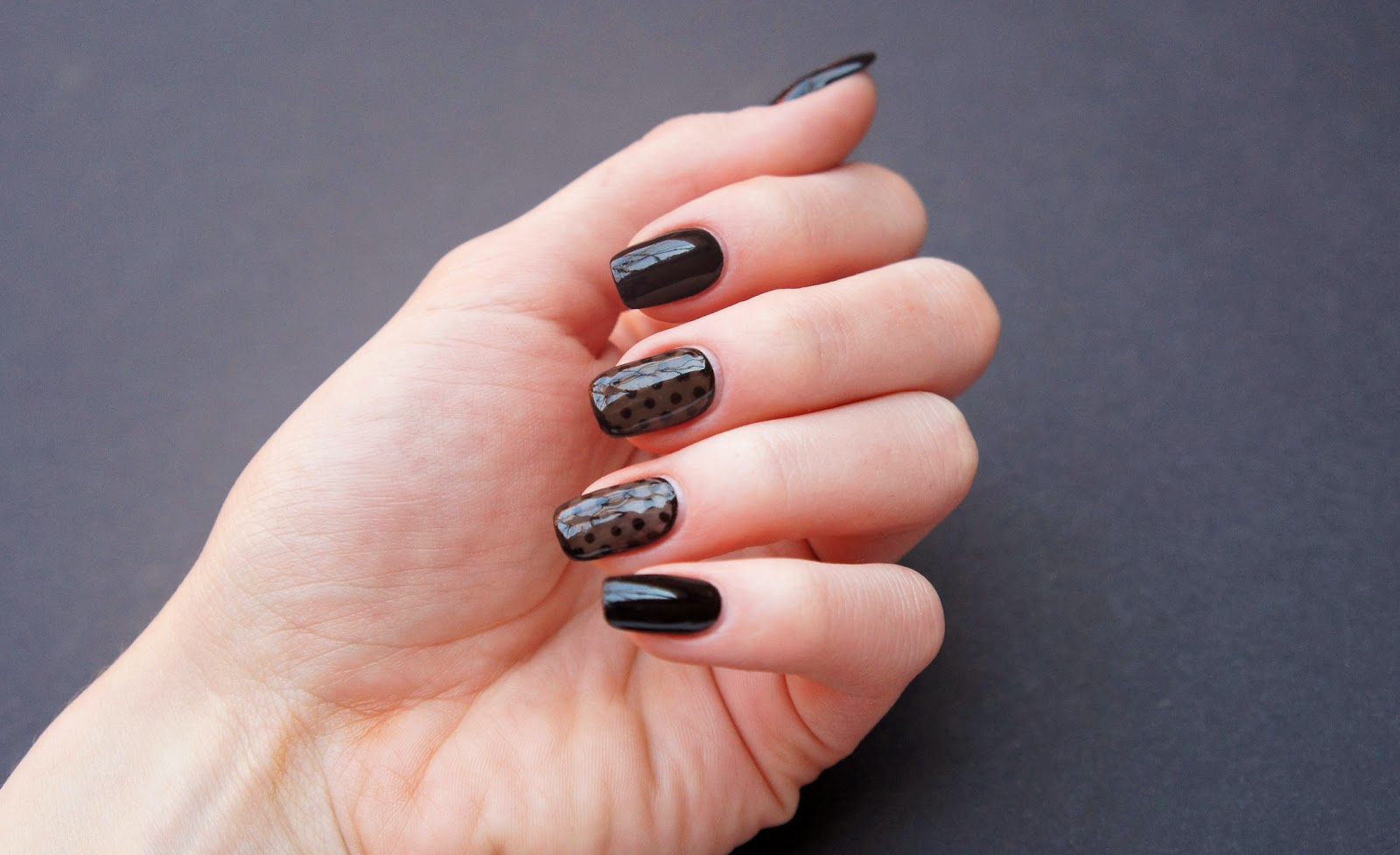 Black Sheer Nails