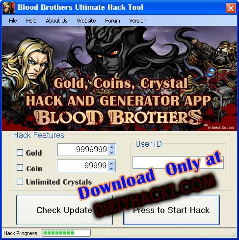 Blood brothers cheats and hacks for gold, coins and crystals, Get