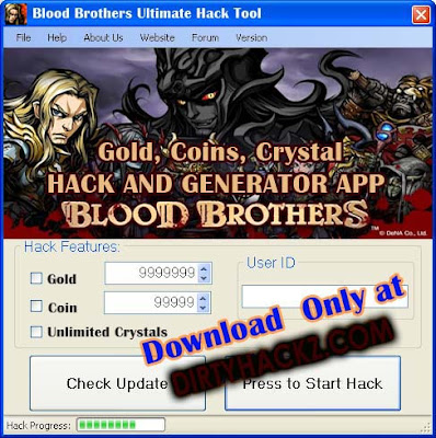 Blood Brothers Cheat for Gold, Coins and Crystals