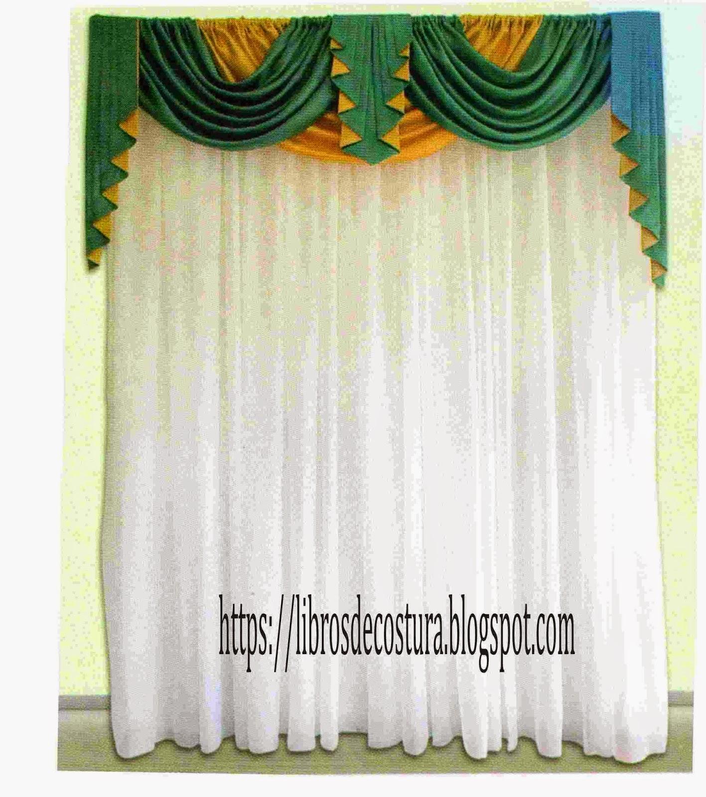 Libros de costura como hacer cortinas paso a paso for Como hacer un bando para cortinas
