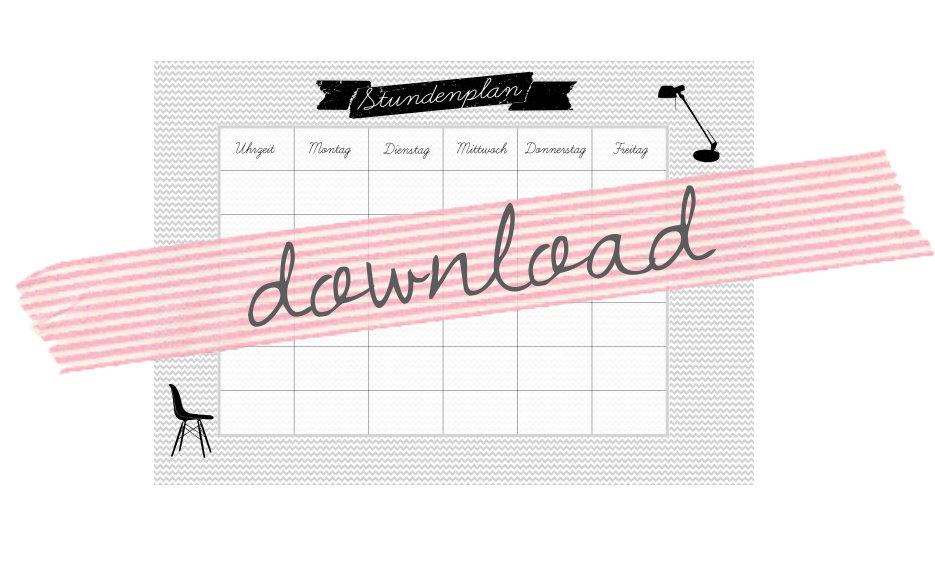 Kostenloser Download Stundenplan