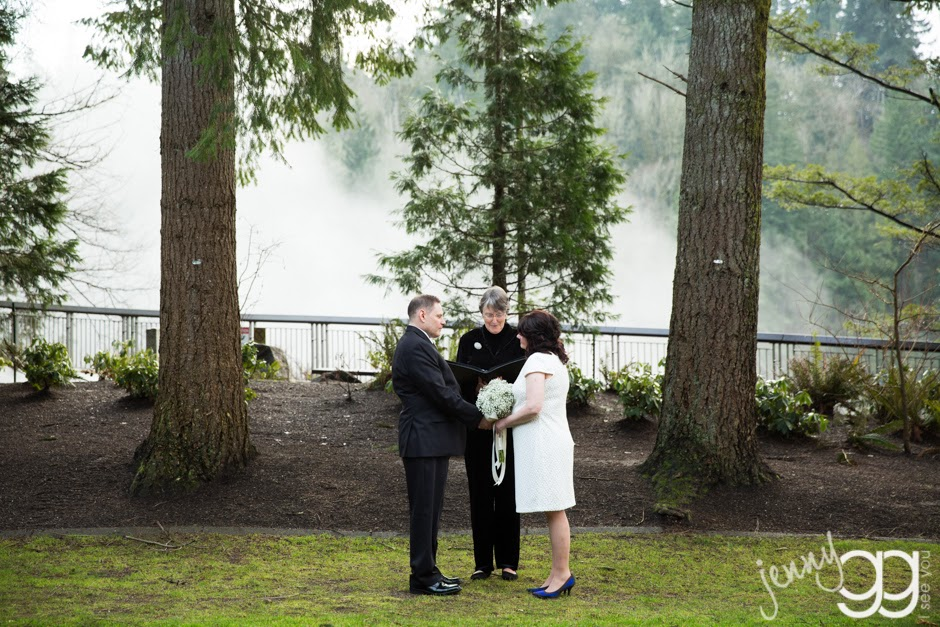 Centennial Greens was were the ceremony took place - Posted by Patricia Stimac, Seattle Wedding Officiant