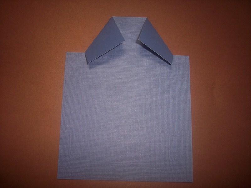 Tarjeta camisa y corbata en origami tutorial terraza malva for Construccion de piletas paso a paso