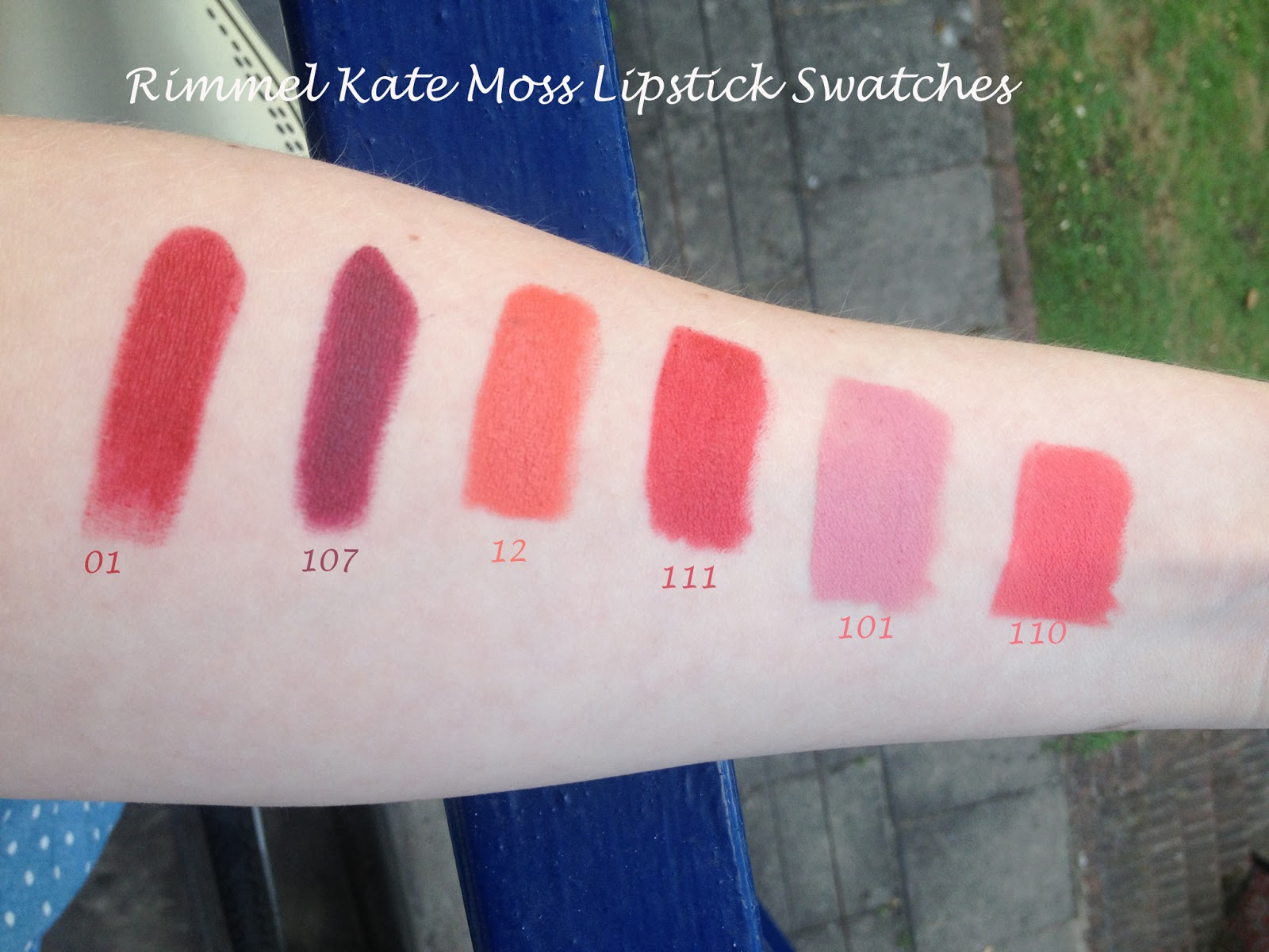 Inspiration for the imagination: Rimmel Kate Moss Lipstick Swatches