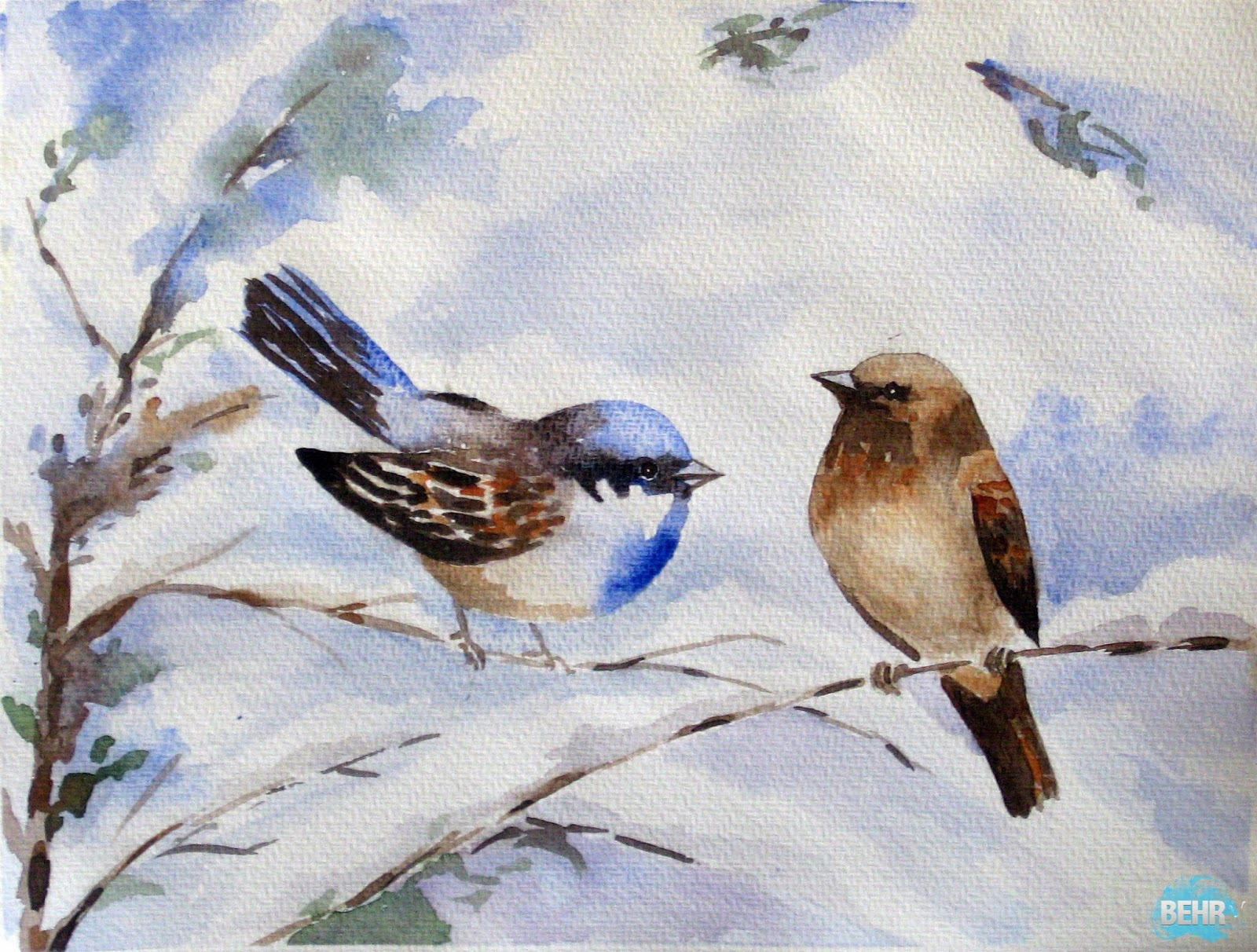 Famous Water Colour Bird Painting