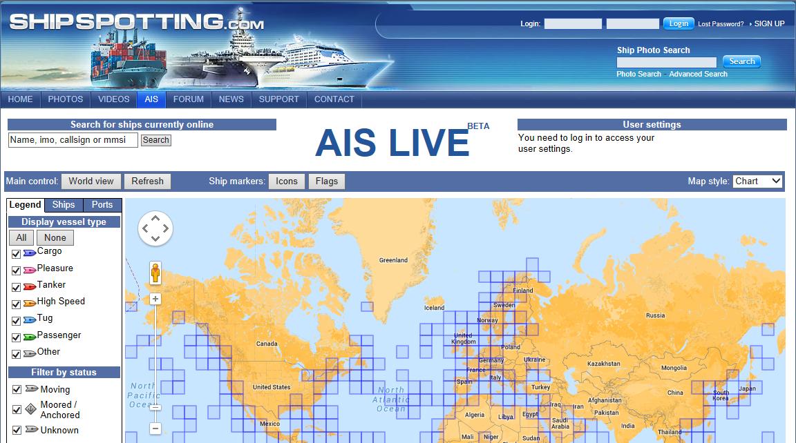 Ship Spotting main ais view