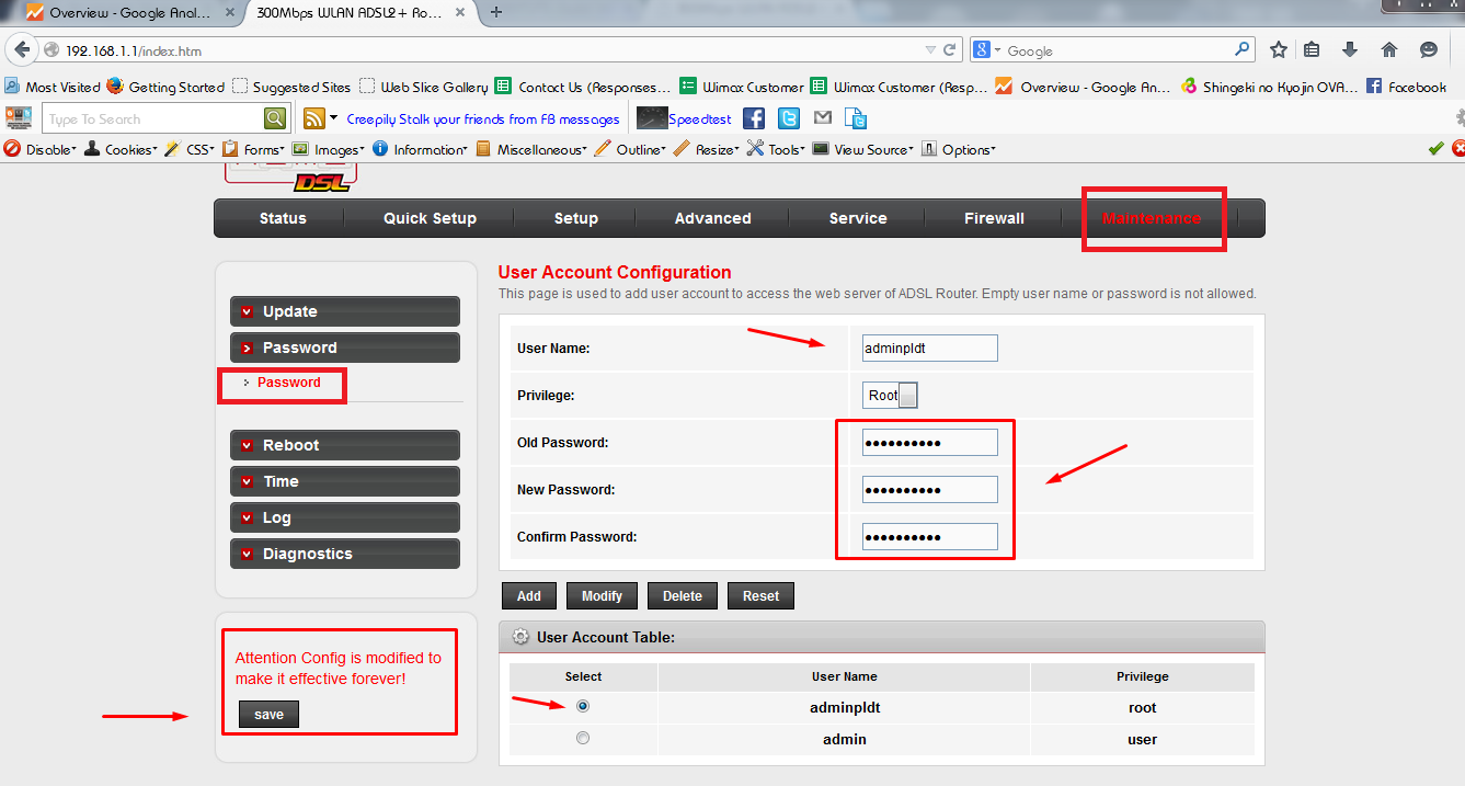 How to change admin password for pldtmydsl wifi router blogmytuts