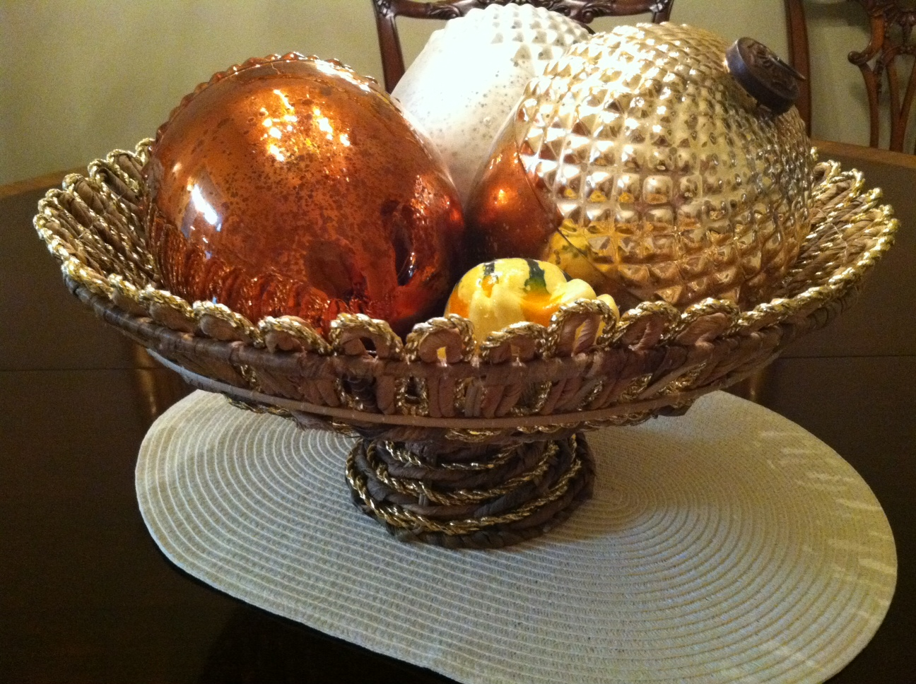 Omg oh my gracious fall centerpiece