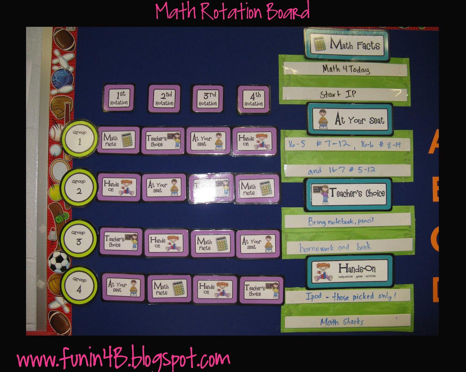 Math Stations....Making It Work | Fun in Room 4B