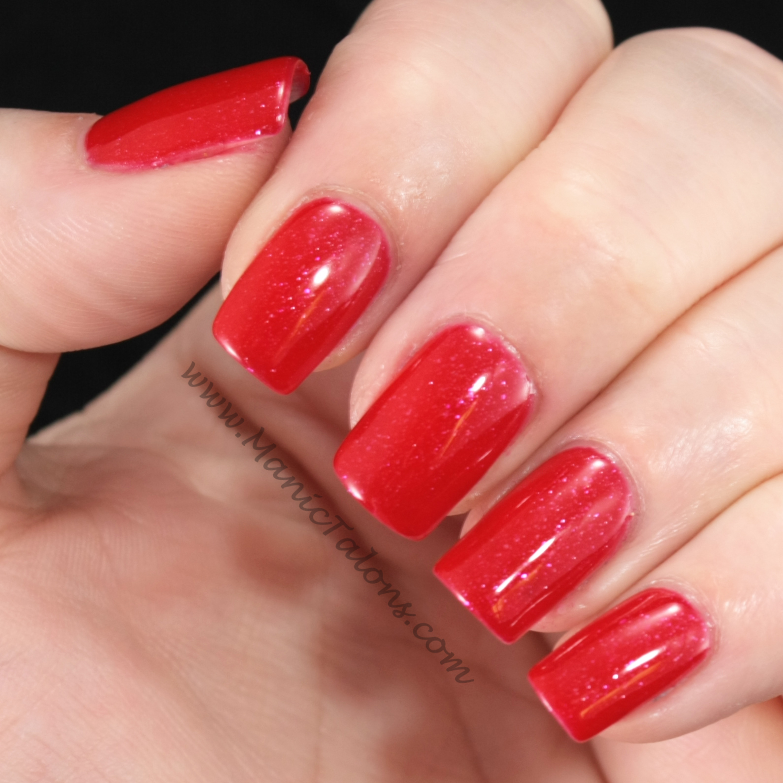 Couture Gel Nail Polish Red Carpet Swatch