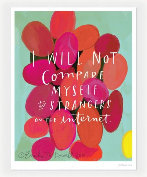 i will not compare myself