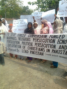 Protest on forced conversion of religion and forced marriages in Pakistan