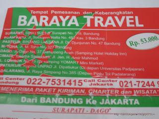 jadwal travel baraya