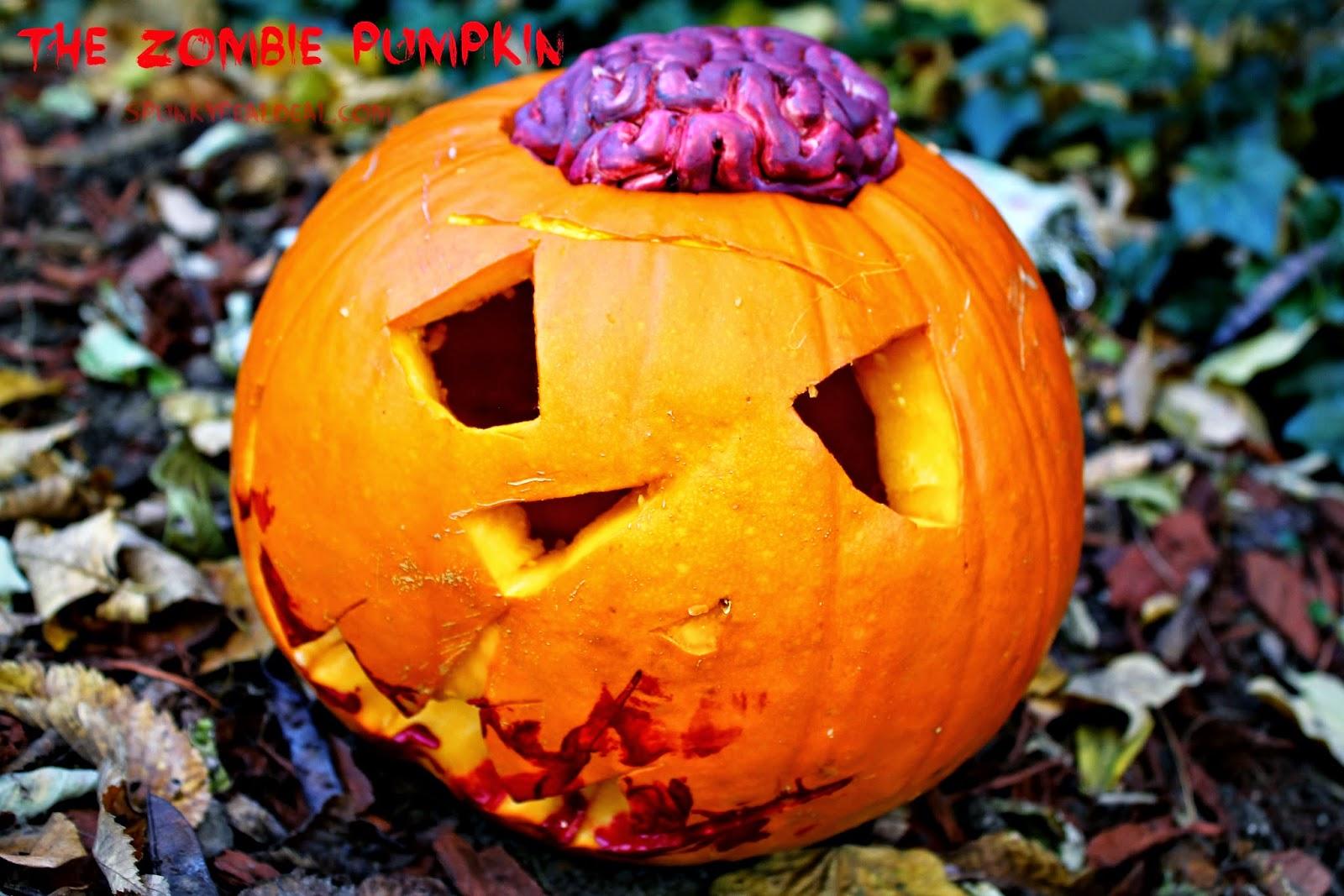 Zombie Pumpkin Carving
