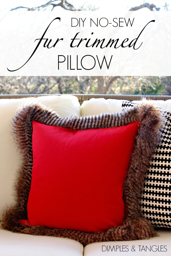 fur pillow, diy project, home decor, no sew pillow