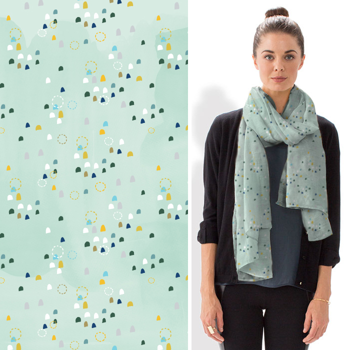scarf pattern by two if by sea studios