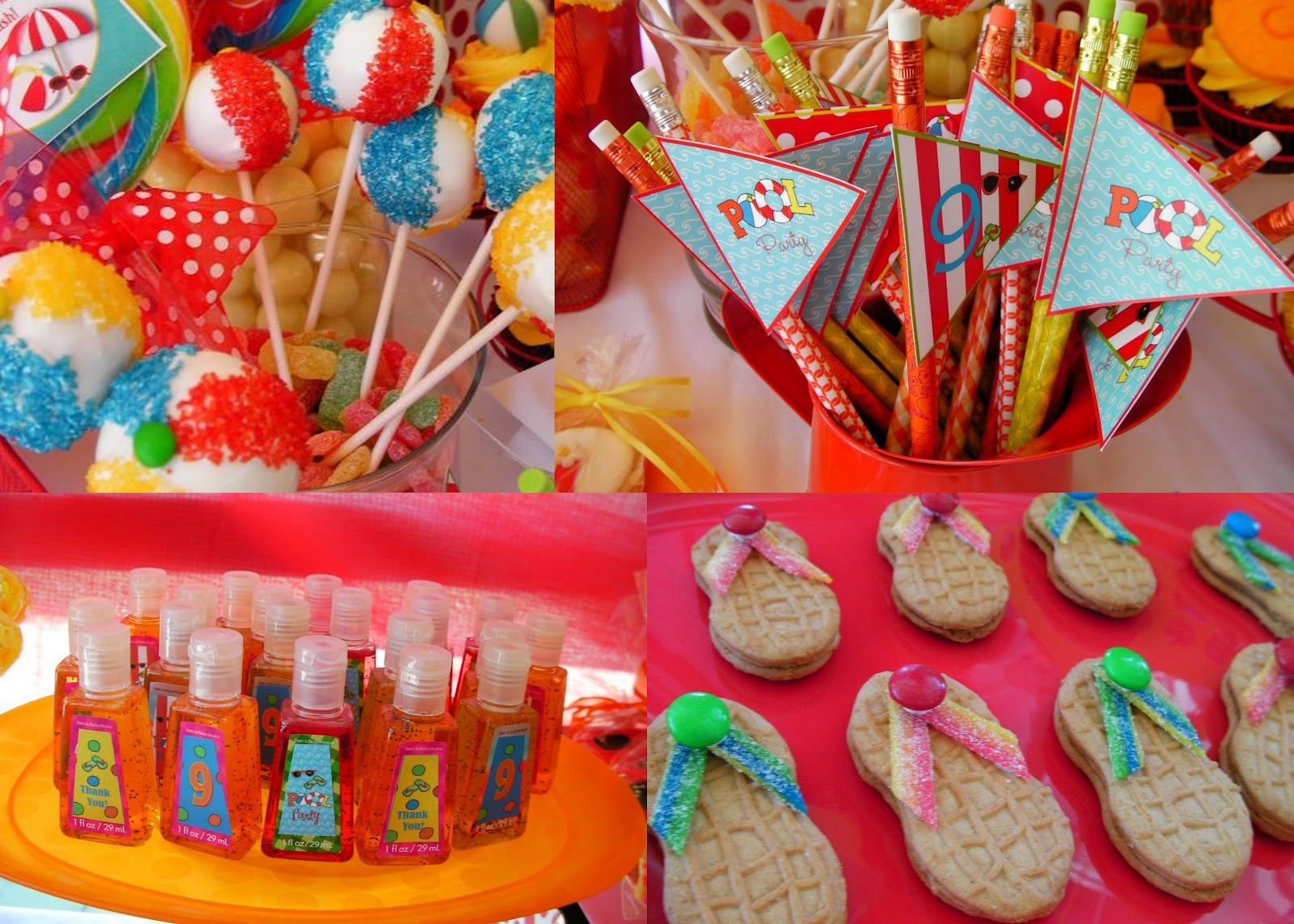 MKR Creations Beach Party Theme Favors
