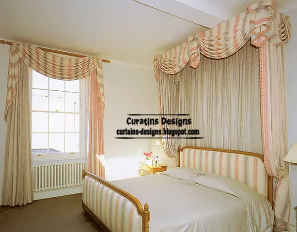 striped curtains for bedroom, classic curtain designs and drapery