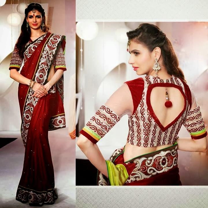 South Indian Blouse Back Neck Design 72