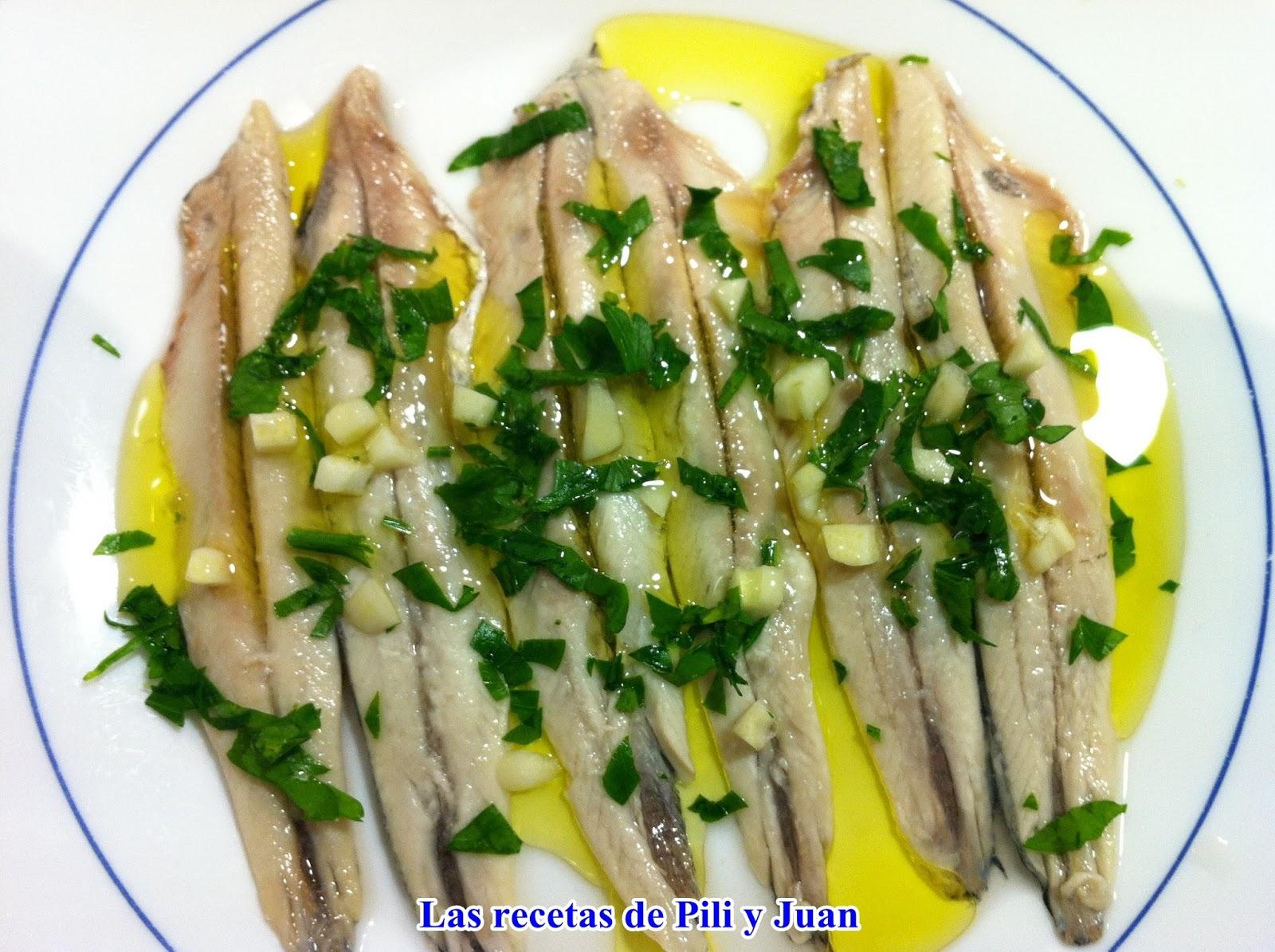 Las recetas de pili y juan anchoas en vinagre - Boquerones en vinagre duros ...
