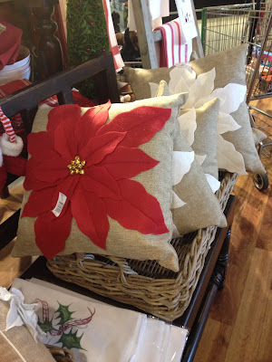 Poinsettia pillows -- The Impatient Gardener