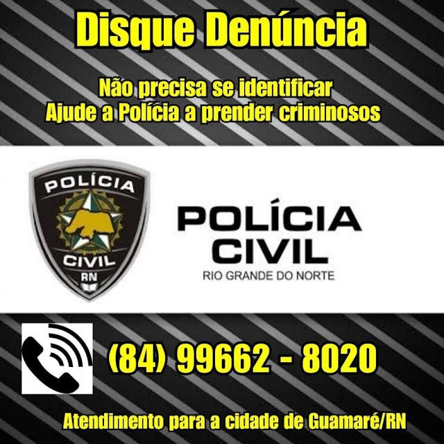 As denuncias agora podem ser feitas pelo whatsapp da policia civil de Guamaré