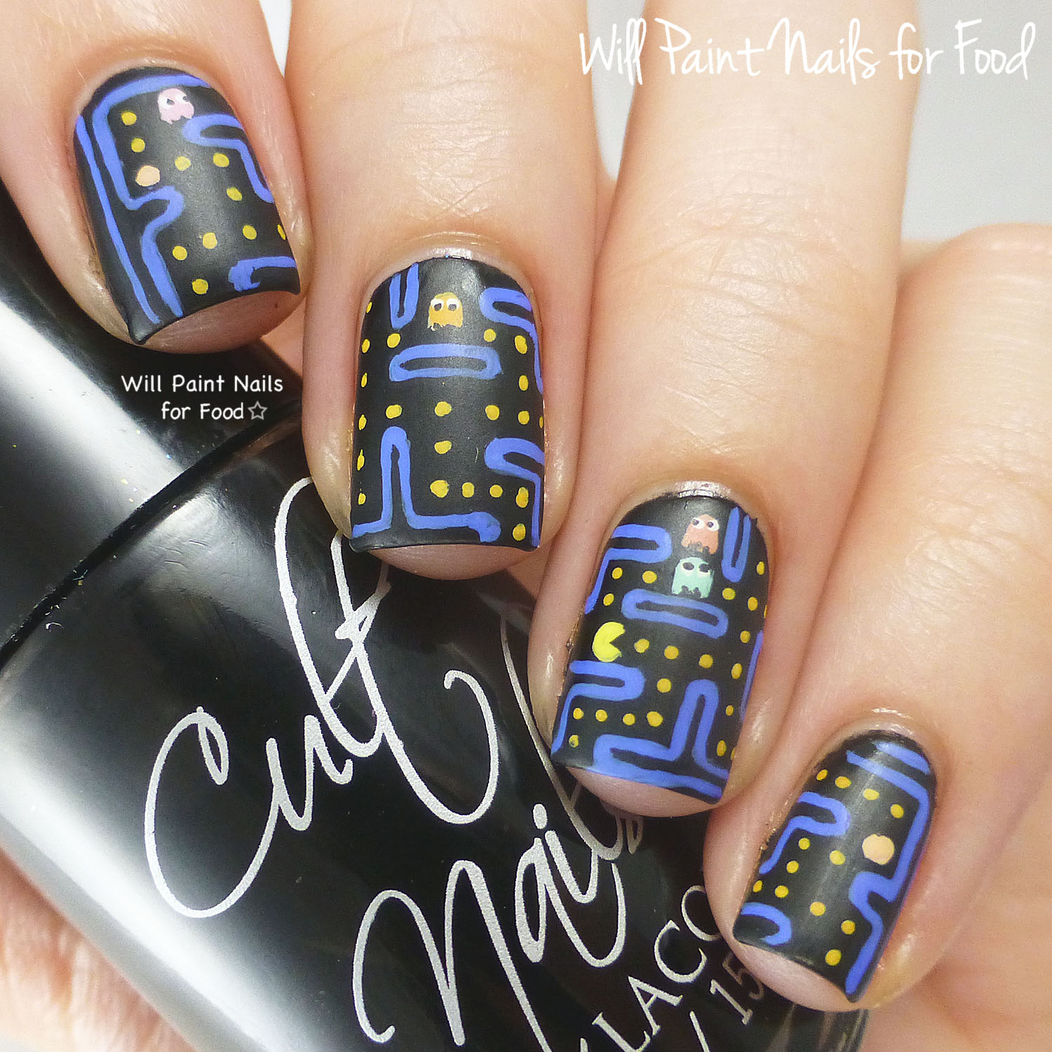 Original Pac-Man nail art