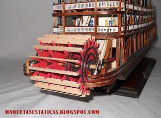 rueda de paletas de barco de vapor