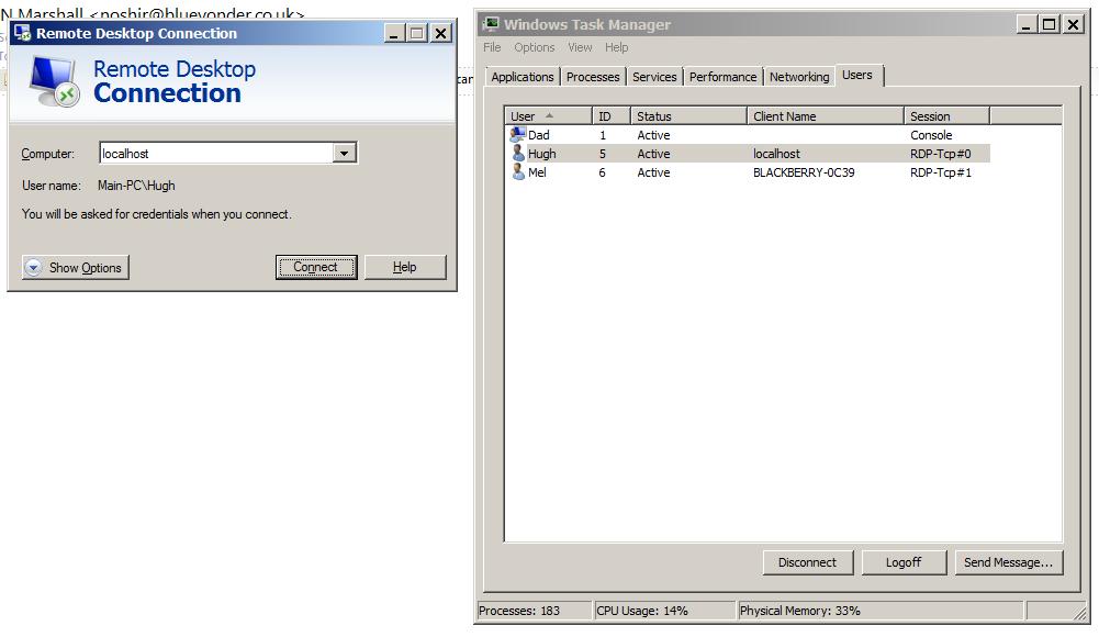 Connect To Windows  Home Premium Remote Desktop Hack