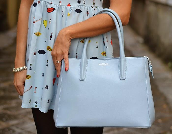 lux bag azzurro pastello
