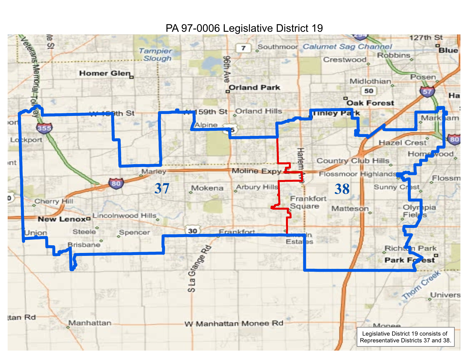 Will County Politics Realigned Illinois State Legislative And - Illinois state map with towns